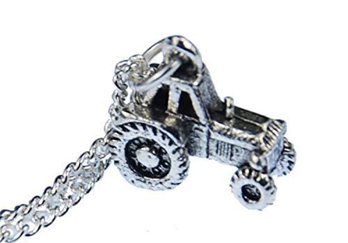 Miniblings Traktor Halskette Silber 45cm Bauernhof Landwirtschaft Traktor Silber