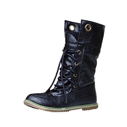 Stiefel Damen, LANSKIRT Verbandstiefel Weibliche Stiefeletten Stiefeletten Halbschaft Stiefel Plateau Blockabsatz Knöchelhohe Stiefel Boot Sandalen Sneakers Schuhe