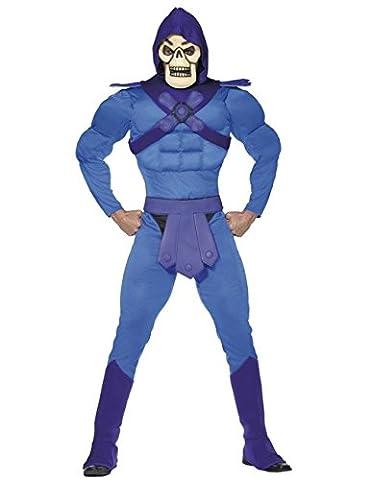Skeletor Comic Kostüm He Man and the Masters of the Universe Lizenzware blau lila gelb L (He-man-kostüm Für Kinder)