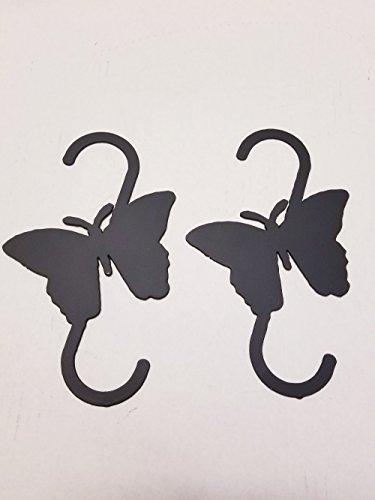 Set von 2Eisen Butterfly Garden Pflanzen Haken-Perfect Einzigartiges Design, Hand hergestellt von amischen von Lancaster County (PA. -