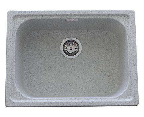 ZINZER Granite Kitchen Sink : The 24 X 18 - Grey color