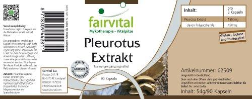 fairvital – Pleurotus Medicinal Mushroom Extract 500mg – 30% Polysaccharides (150mg) – 90 Vegetarian Capsules