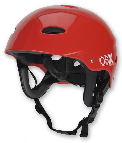 New OSX Kayak Canoe Helmet Safety - Size Small RedThe OSX helmet is good for all kinds of water sports, we sell a lot for kite boarding, skiing, wake boarding, skateboarding and many other sports.
