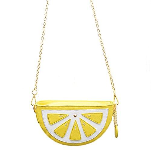 KOROWA Women Watermelon Orange Fruit Chain Crossbody Purse Wallet Satchel Shoulder Bag Orange color