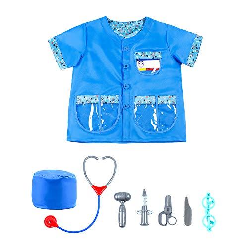Kit Arzt Kostüm Kind - Naisidier Ärzte-Kit für Kinder Kinderarzt Dress Up-Role Play Kostüme für Kinder Chirurg Kostüm-Set und Zubehör Rollenspiele Kostüme in Kindergärten Free Size 1 Pc