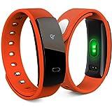 Fitness Tracker Smartwatch S8 Inteligente Monitor de Pulso Cardiaco Bluetooth Pulsera Inteligente Deporte Actividad Tracker con Contador de Calorias/Monitor de Sueño/Contador de Pasos/Reloj Compatib (naranja)