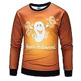 Maglione Stampa Novità Maglietta Stampata ASHOP Halloween Stampare Maniche lunghe Giacca Pullover Felpe Top Outwear Arancia S