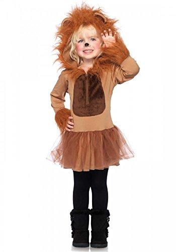 Cuddly Lion Kinderkostüm von Leg Avenue Mädchen Löwe Fell Tier, Größe:S