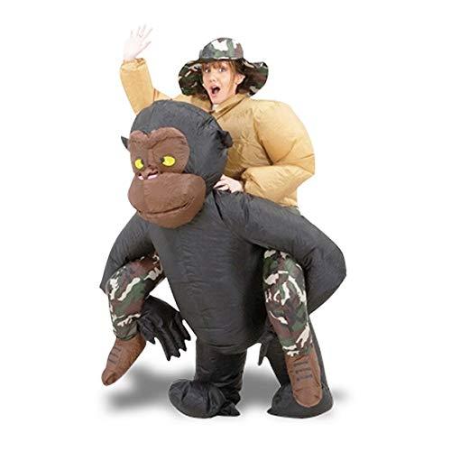 Mann aufblasbaren Kostüm Anzug eines Gorillas auf der (Gorilla Kostüm Anzug)