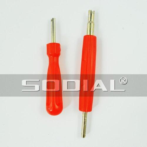 sodial-r-2-in-1-set-attrezzo-di-riparazione-gomma-rimozione-valvola-con-testa-singola-e-doppia