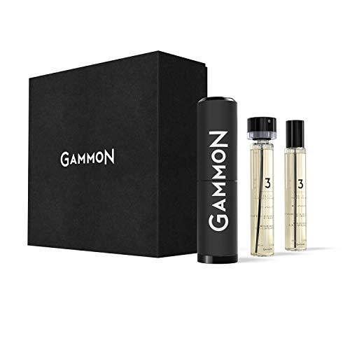 GAMMON 3 - THE LEATHER JACKET, Eau de Performance STARTER-SET, 2 x 20 ml Eau de Parfum für Herren/Männer