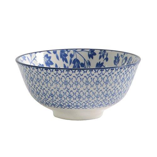 Blaue Schalen Nudeln Und Weiße (ProCook Porzellan, tiefe chinesische Reisschale, blau, Small)