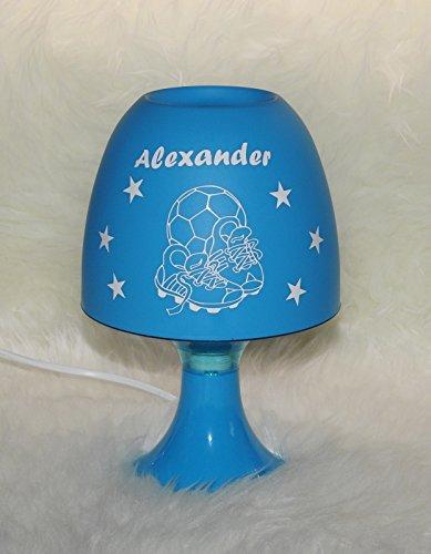 Kinderlampe Tischleuchte - Fußballschuhe - mit Wunschname blau -