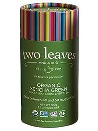Two Leaves and a Bud Organic Sencha Green Loose Leaf Tea, 3.5 oz