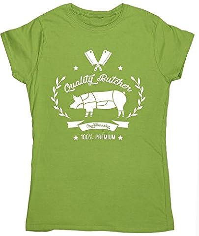 HippoWarehouse - T-shirt - Femme X-Large - vert - Small