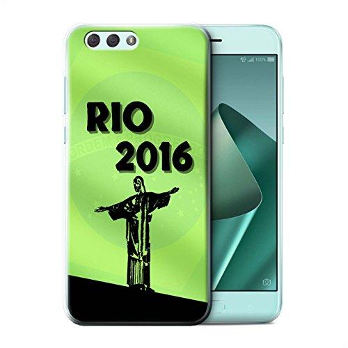 Olympia-kollektion (Stuff4® Hülle/Case für Asus Zenfone 4 ZE554KL/Grün Muster/Rio Olympisch Kollektion)