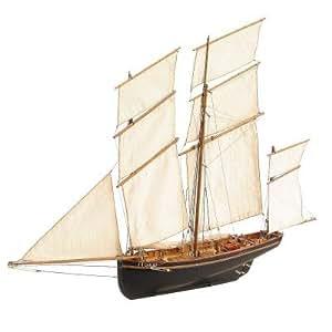 Maquette bateau en bois : La Cancalaise : Prêt à exposer