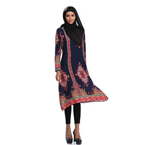 Amphia Damen Festkleid Muslim Dubai Muslimisch Islamisch Arabisch Indien Türkisch Casual Abendkleid...