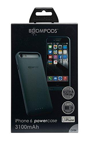 Boompods Powercase Batteria Esterna Portatile, Custodia Cover con Batteria Integrata 3100mAh, per Apple iPhone 6S/6, Verde Grigio Scuro