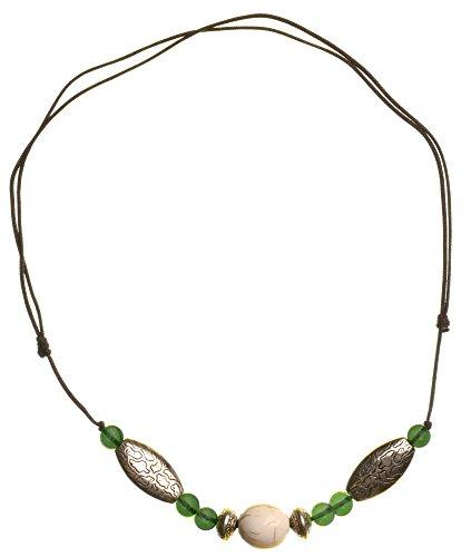 Tibeter Halskette grün 2 - Ethno-Schmuck - Kette