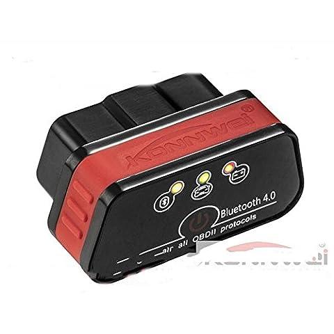 Sistema di ISO dell'automobile KONNWEI KW901 Bluetooth 4.0 supporta Apple ELM327 Bluetooth OBD2 scanner diagnostico , Red