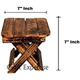 Craft Expertise Wooden Handcrafted Folding Stool/Table for Kids (Small)