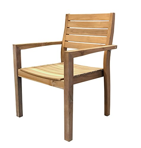 GRASEKAMP Qualität seit 1972 Teak Stapelsessel Sessel Stuhl Teakholz Gartenmöbel