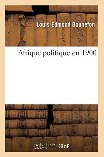 Afrique politique en 1900