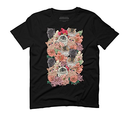 BECAUSE CATS Men's Graphic T-Shirt - Design By Humans Black