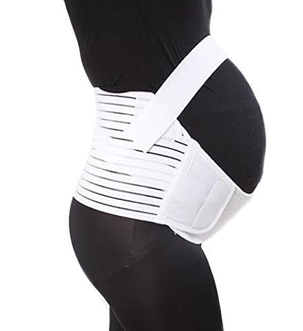 Schwangerschaftsgürtel, Bauchband zur Unterstützung Gr. XL, weiß