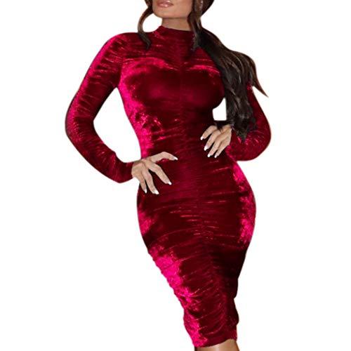 Kleid Sannysis Elegante Damen Langarm Minikleid Bodycon Abendkleider Hochzeit Festlich Cocktail Abendkleid Partykleid Jovani Cocktail