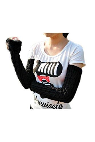 Inverno freddo tempo donna braccio lungo senza dita più caldi guanti maglia