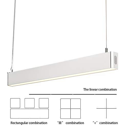 LED Büroleuchte Deckenleuchte Pendellampe Büro Hängelampe, höhenverstellbar Pendellänge maximum 150 cm, 1200*30*80mm 36W 4000K für hängeleuchte esstisch Arbeitszimmer Wohnzimmer ()