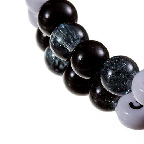Stillarmband Black - Praktisch für stillende Mütter sowie ein ideales Geschenk zur Geburt! (Cracked-/Glaswachsperlen) - 2