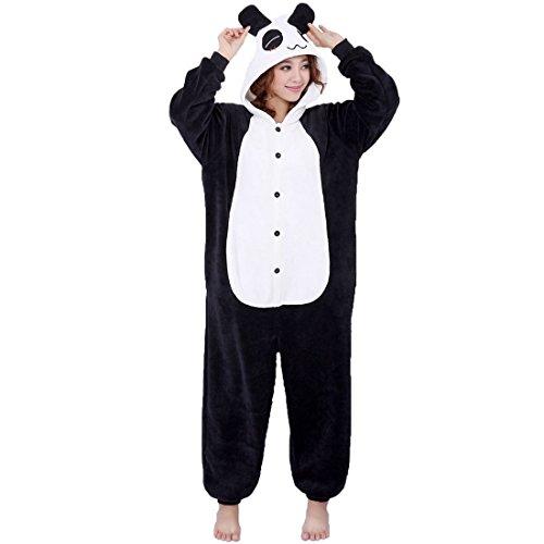 Aivtalk Unisex Schlafanzug Für Erwachsene Korallen Samt Tier Nachtwäsche Cartoon Einteiler Pyjamas Herren & Damen Cosplay Kostüme Tierkostüme Sleepwear Asiatische Größe XL - (Für Frauen Asiatische Kostüm)