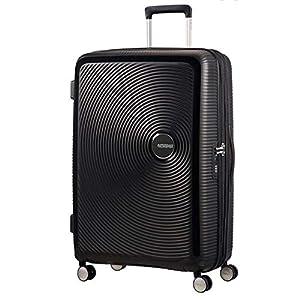 American Tourister - Soundbox Spinner Expandable, 67cm, 71,5/81 L - 3,7 KG, Black (Bass Black)