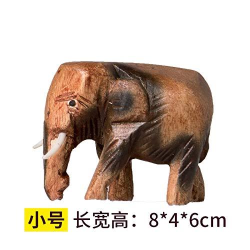 ZXZMONG Escultura Figuras Estatuas Decoracion Adornos De Madera Elefantes De Madera Adornos...