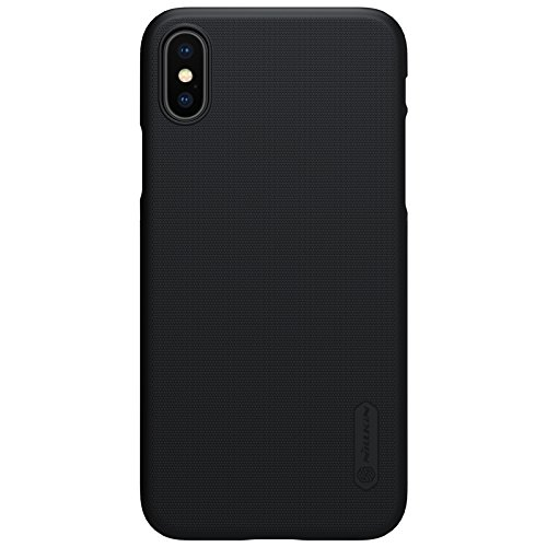 BCIT iPhone X Hülle - Premium Qualität Harte Schale Ultra Slim Schutzhülle +1 Film Displayschutzfolie für iPhone X - Weiß Schwarz