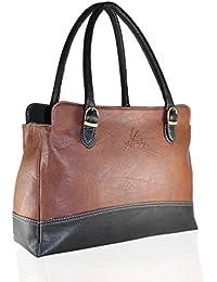 Fargo Couthy PU Leather Women's & Girl's Shoulder Handbag (Brown Black_FGO-036)
