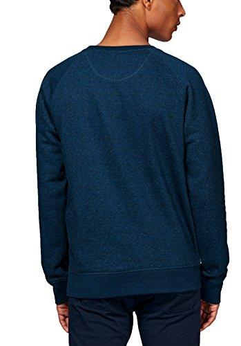 Herren Sweatshirt aus Bio-Baumwolle Mix mit 85% Baumwolle und 15% Polyester, Herren Bio Pullover, Pullover Bio, Herren Bio Sweatshirt,Sweatshirt Baumwolle (Bio) Black Heather Blue