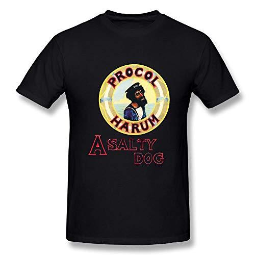 Allenvin Men's Fashion Procol Harum A Salty Dog T Shirts Black,Black,3X