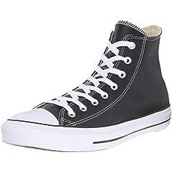 Converse Ct Core Lea Hi - Zapatillas de piel de cerdo unisex, Negro (Schwarz (Noir)), 41.5