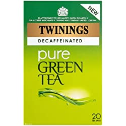 Twinings Pure Green Tea Decaffeinated 20 Btl, 40g - entkoffeinierte Grüner Tee