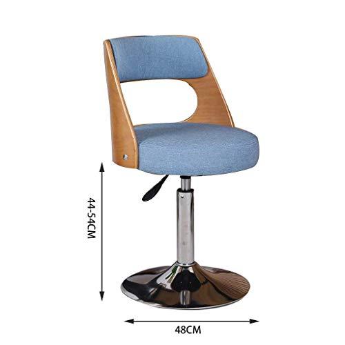 MTX Ltd Einfacher Drehstuhl-hölzerner Computer-Stuhl-beiläufiger Eleganz-Kleiner Stuhl-Gasheber-moderner Studenten-Stuhl, der Stuhl-Computer-Schemel-Schreibtisch-Stuhl mit Rückenlehne und Fußstütze l
