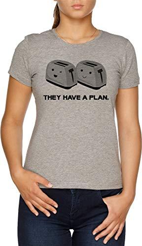 Vendax Tostadoras Camiseta Mujer Gris