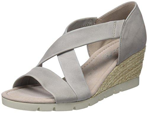 c648909f21f3 Gabor Shoes Damen Comfort Sport Riemchensandalen, Beige (Leinen (Jute), 42  EU