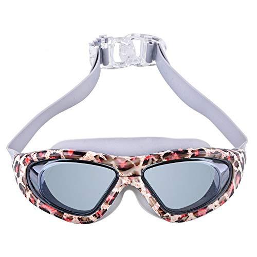 Shpmhbl occhiali colorati di moda grande scatola occhiali anti-appannamento impermeabile occhiali da nuoto attrezzature per il nuoto unisex, a