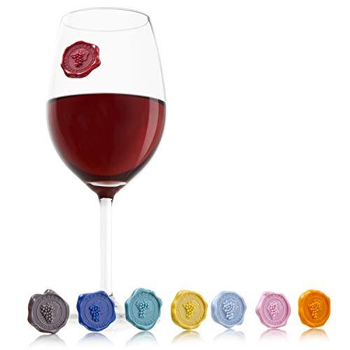 Vacu Vin 1886461 Glassmarker, Figuren als Siegel für das Weinglas - Französisch Rack Wein