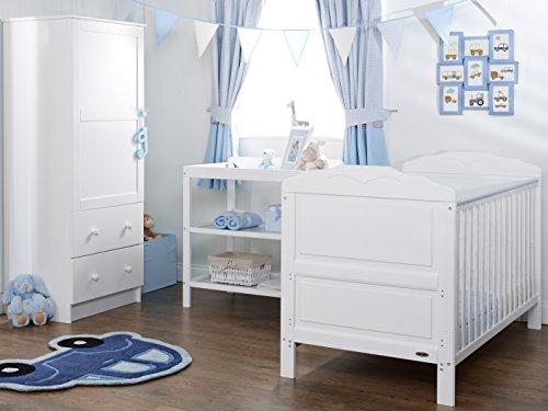Obaby Beverley 3 Piece Nursery Furniture Set - White
