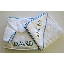 Personalizado juego de albornoz y toalla para bebé con capucha ...